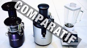 Comparatif Extracteur de Jus, Centrifugeuse, Mixeur – Comment choisir ?