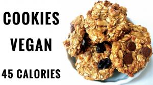 Cookie Vegan Banane Avoine (45 calories) – Recette